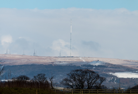 The view from Standish across to Winter Hill 写真素材