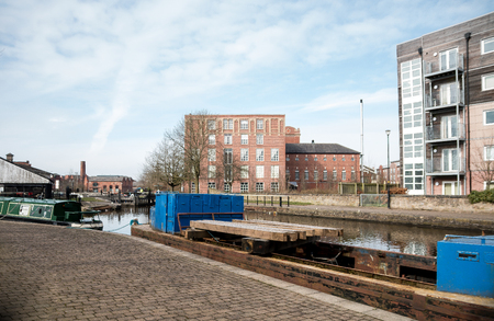 The working barges on the Leeds Liverpool canal