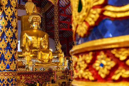 buddha statue in wat suan dok ,chiang mai ,Thailand.