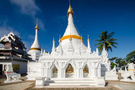 grand sons: phra dhatu doi kong moo temple at doi kong moo in meahongson , thailand