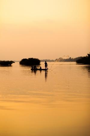 handcarves: Mekong Fishermen