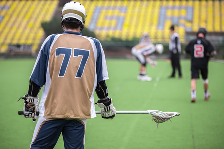 Lacrosse player Imagens
