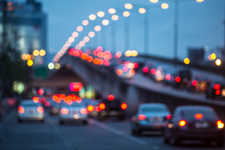 night highway: Blurred Traffic