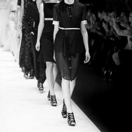 modelo en pasarela: Show de moda