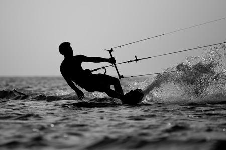 Kitesurfing Stock Photo - 40563531