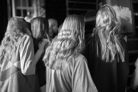 fashion catwalk: Fashion Show Backstage