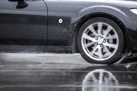 kropla deszczu: Mokre warunki drogowe