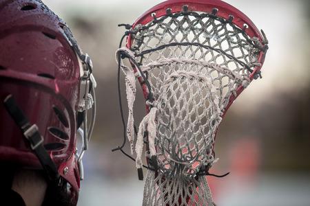 ラクロス - アメリカの高校のスポーツ テーマ写真 写真素材