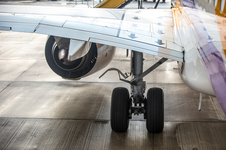 undercarriage: Undercarriage of an airplane
