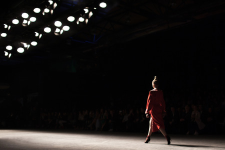 Fashion Show, Catwalk Runway Event A blurred on purpose