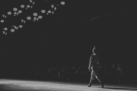 runway fashion: Fashion Show, Catwalk Runway Event A blurred on purpose