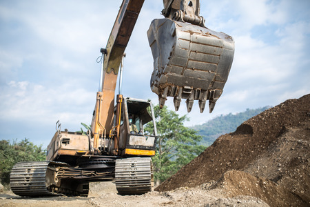 duty belt: Heavy machinery at the quarry
