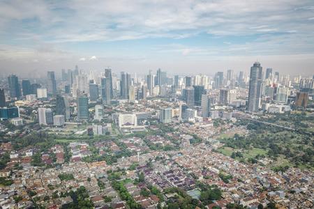 Jakarta, Indonesia, drone photograph 스톡 콘텐츠
