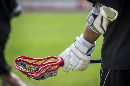 Lacrosse - american teamsports themed photo Stock Photo