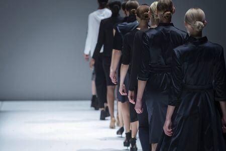 Fashion Show, Catwalk Runway Event Standard-Bild