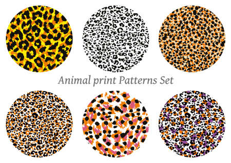 set of animal print vector patterns. Vector illustration for textile industry ..