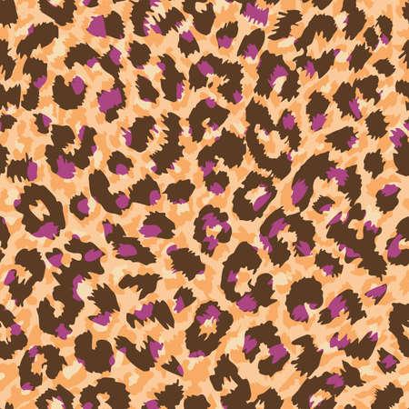 Pattern design of leopard animal print