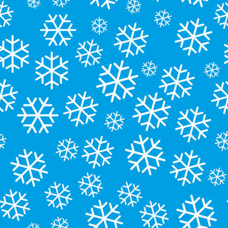 Continuous ice symbol design on light blue background. Pattern seamless for christmas