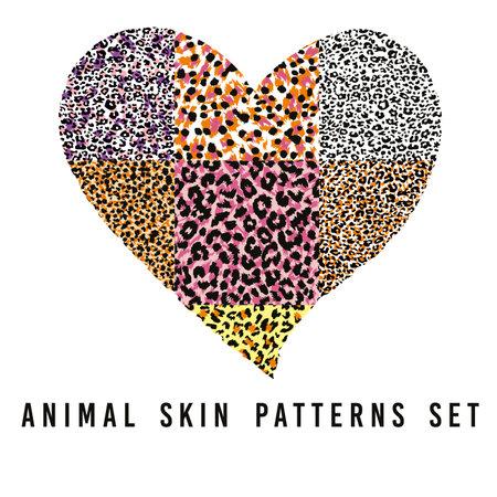 set of animal skin patterns