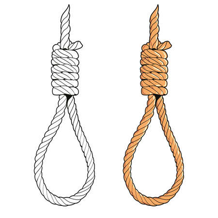 vector illustration of a gallows isolated on white