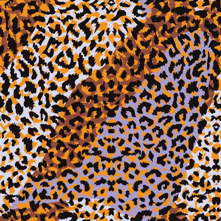 pattern design of leopard animal print vector