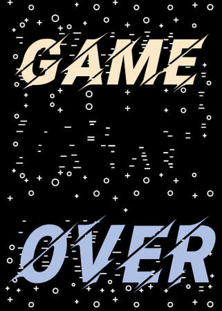 Game over. Vector illustration with the phrase Endgame on black background.