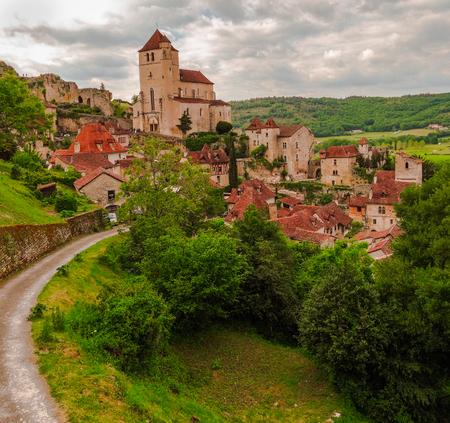 Saint Cirq Lapopie, medieval town, France
