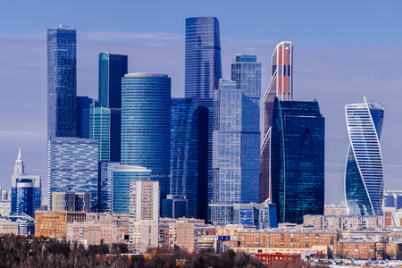 Moscow city cityscape, Moscow, Russia Stock Photo