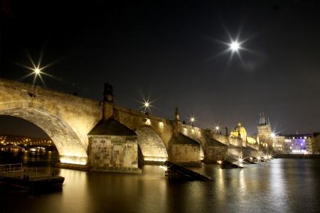Carls bridge in Prague photo