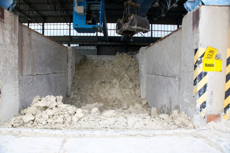 kaolin: Kaolin reserves in the factory