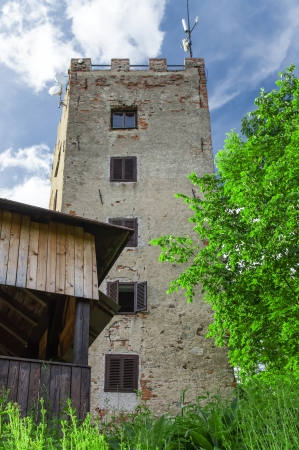 Lookout tower Ryzmberk with blue sky in Czech Republic Stock Photo - 24315345