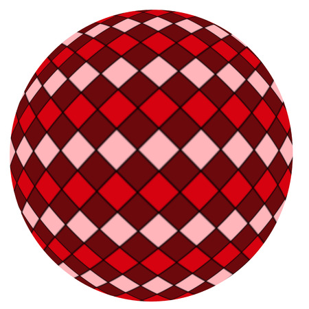 Red ball isolated on a white background photo