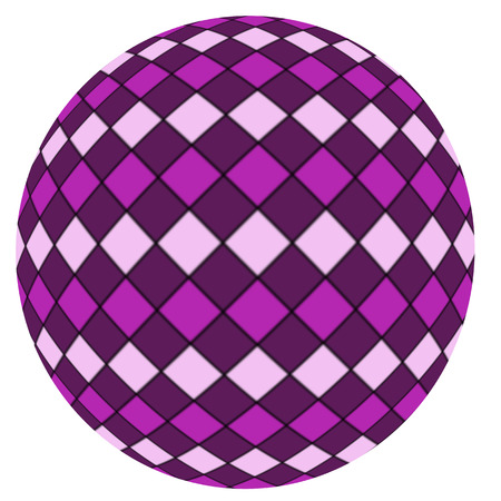 Violet ball isolated on a white  photo