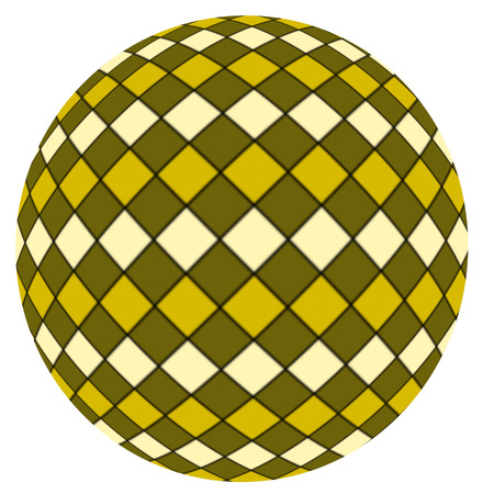 beachball: Yellow ball isolated on a white background