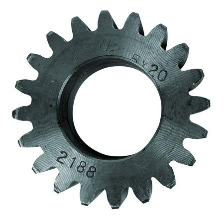 interlink: Steel cogwheel isolated on white background Stock Photo