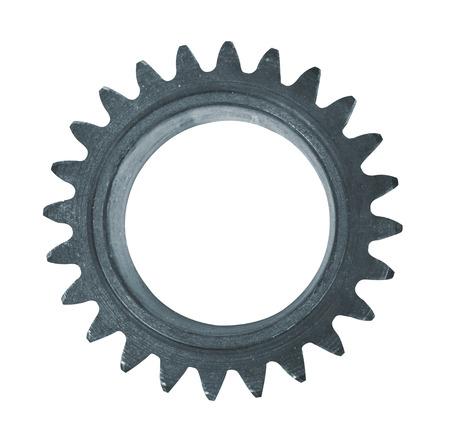 Steel cogwheel isolated on white background Standard-Bild