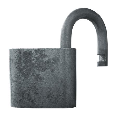 Security lock isolated on white photo