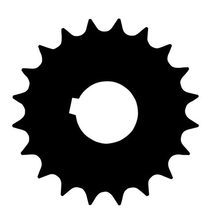 interlink: Cogwheel silhouette isolated on a white background