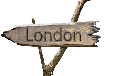 London , England , Europe wooden sign photo