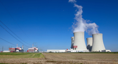temelin:  Nuclear power plant Temelin in Czech Republic Europe Editorial