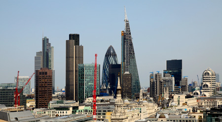 willis: City of London one of the leading centres of global finance This view includes Tower  42 Gherkin,Willis Building, Stock Exchange Tower and Lloyd s of London and Canary Wharf at the background