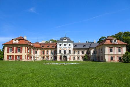 crenelation: Dolni Lukavice castle in the Czech Republic