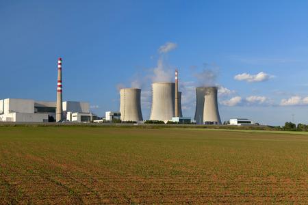 dukovany: Nuclear power plant Dukovany in Czech Republic Europe Stock Photo