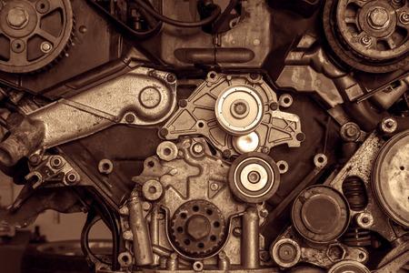 Motor van een auto, detail