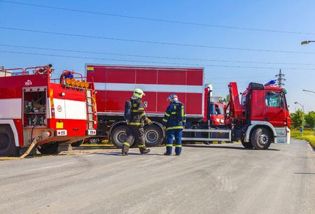 camion pompier: Camions de pompiers Banque d'images