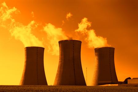 Nuclear power plant Dukovany in Czech Republic Europe Standard-Bild