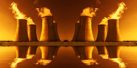 dukovany:  Nuclear power plant Temelin in Czech Republic Europe Stock Photo