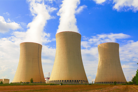 atomic energy: Nuclear power plant Dukovany in Czech Republic Europe Editorial