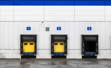 Loading dock at a warehouse Stock Photo