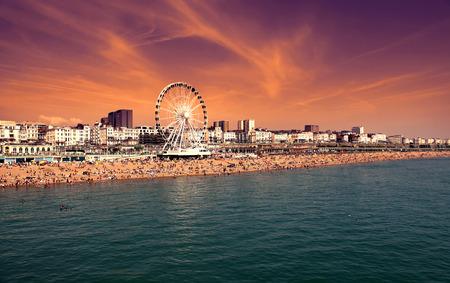 De torenhoge Brighton Wheel aan de kust bij Brighton East Sussex Engeland
